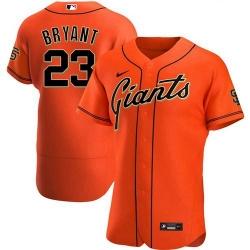 Men's San Francisco Giants #23 Kris Bryant Orange Flex Base Nike Jersey
