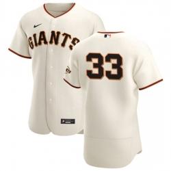 San Francisco Giants 33 Darin Ruf Men Nike Cream Home 2020 Authentic Player MLB Jersey