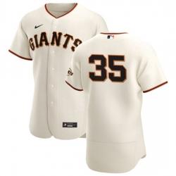 San Francisco Giants 35 Brandon Crawford Men Nike Cream Home 2020 Authentic Player MLB Jersey