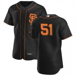 San Francisco Giants 51 Conner Menez Men Nike Black Alternate 2020 Authentic Player MLB Jersey