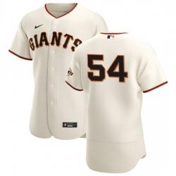 San Francisco Giants 54 Reyes Moronta Men Nike Cream Home 2020 Authentic Player MLB Jersey