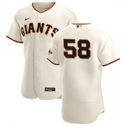 San Francisco Giants 58 Trevor Gott Men Nike Cream Home 2020 Authentic Player MLB Jersey