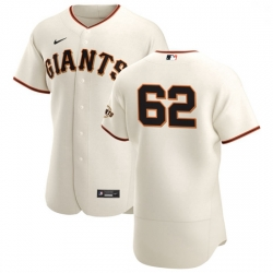 San Francisco Giants 62 Logan Webb Men Nike Cream Home 2020 Authentic Player MLB Jersey