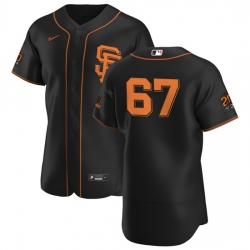 San Francisco Giants 67 Sam Selman Men Nike Black Alternate 2020 Authentic 20 at 24 Patch Player MLB Jersey