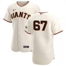 San Francisco Giants 67 Sam Selman Men Nike Cream Home 2020 Authentic Player MLB Jersey