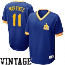 Men  Seattle Mariners Nike Edgar Martinez Cooperstown Collection Throwback Jersey Royal Blue