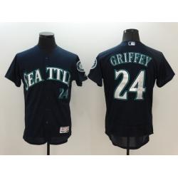 Men Seattle Mariners ken griffey Jr 24 Black MLB jersey