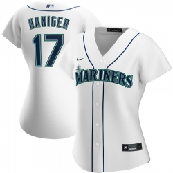 Seattle Mariners 17 Mitch Haniger Nike Women Home 2020 MLB Player Jersey White