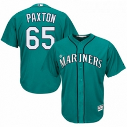 Youth Majestic Seattle Mariners 65 James Paxton Authentic Teal Green Alternate Cool Base MLB Jersey