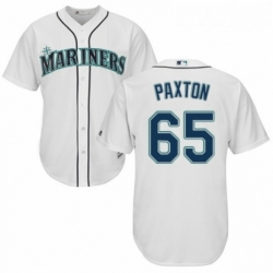 Youth Majestic Seattle Mariners 65 James Paxton Replica White Home Cool Base MLB Jersey