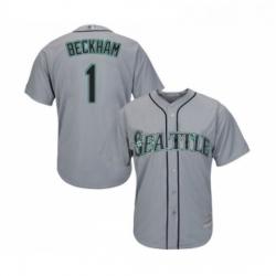 Youth Seattle Mariners 1 Tim Beckham Replica Grey Road Cool Base Baseball Jersey