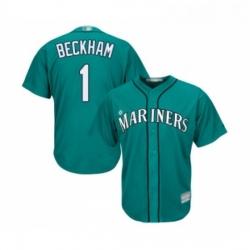 Youth Seattle Mariners 1 Tim Beckham Replica Teal Green Alternate Cool Base Baseball Jersey
