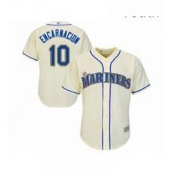 Youth Seattle Mariners 10 Edwin Encarnacion Replica Cream Alternate Cool Base Baseball Jersey