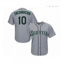 Youth Seattle Mariners 10 Edwin Encarnacion Replica Grey Road Cool Base Baseball Jersey