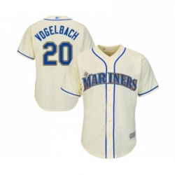 Youth Seattle Mariners 20 Dan Vogelbach Replica Cream Alternate Cool Base Baseball Jersey