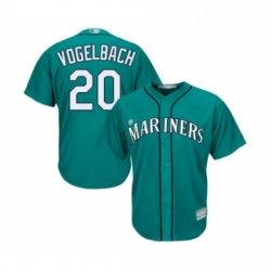 Youth Seattle Mariners 20 Dan Vogelbach Replica Teal Green Alternate Cool Base Baseball Jersey