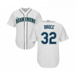 Youth Seattle Mariners 32 Jay Bruce Replica White Home Cool Base Baseball Jersey
