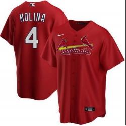 Cardinals 4 Yadier Molina Red 2020 Nike Cool Base Jersey