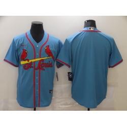 Men St. Louis Cardinals Nike Blue Blank Jersey II