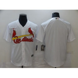 Men St. Louis Cardinals Nike White Blank Jersey II