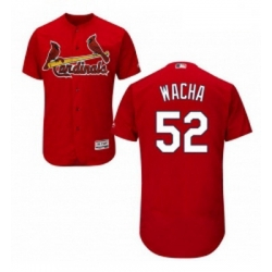 Mens Majestic St Louis Cardinals 52 Michael Wacha Red Alternate Flex Base Authentic Collection MLB Jersey