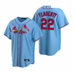 Men's Nike St. Louis Cardinals #22 Jack Flaherty Light Blue Alternate Stitched Baseball Jersey