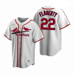 Men's Nike St. Louis Cardinals #22 Jack Flaherty White Cooperstown Collection Home Stitched Baseball Jersey