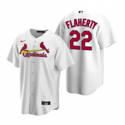 Men's Nike St. Louis Cardinals #22 Jack Flaherty White Home Stitched Baseball Jersey