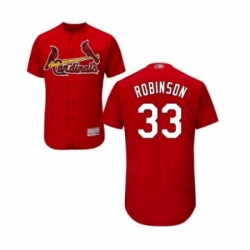 Mens St Louis Cardinals 33 Drew Robinson Red Alternate Flex Base Authentic Collection Baseball Jersey