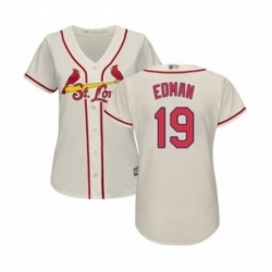 Women's St. Louis Cardinals #19 Tommy Edman Authentic Cream Alternate Cool Base Baseball Player Jersey