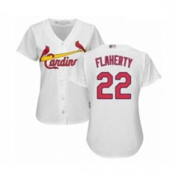 Women's St. Louis Cardinals #22 Jack Flaherty Authentic White Home Cool Base Baseball Player Jersey