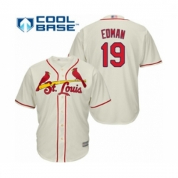 Youth St. Louis Cardinals #19 Tommy Edman Authentic Cream Alternate Cool Base Baseball Player Jersey