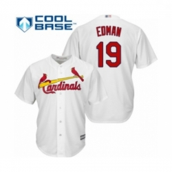 Youth St. Louis Cardinals #19 Tommy Edman Authentic White Home Cool Base Baseball Player Jersey