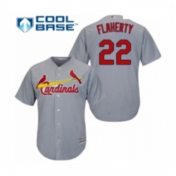 Youth St. Louis Cardinals #22 Jack Flaherty Authentic Grey Road Cool Base Baseball Player Jersey
