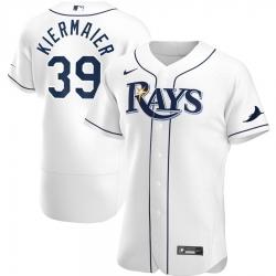 Men Tampa Bay Rays 39 Kevin Kiermaier Men Nike White Home 2020 Flex Base Player MLB Jersey