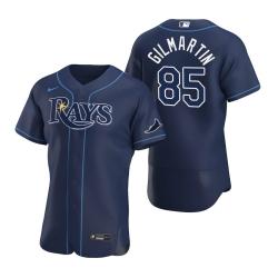 Men Tampa Bay Rays 85 Sean Gilmartin Men Nike Navy Alternate 2020 Flex Base Team MLB Jersey