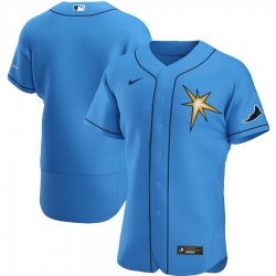 Men Tampa Bay Rays Men Nike Light Blue Alternate 2020 Flex Base Team MLB Jersey