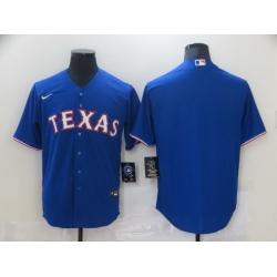Men Nike Texas Rangers Blue Blank Cool base Jersey