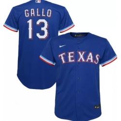 Men Nike Texas Rangers Joey Gallo 13 Royal Blue Cool Base MLB Jersey
