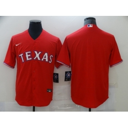 Men Nike Texas Rangers Red  Blank Coolbase Jersey