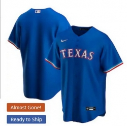 Men Texas Rangers Nike Blue Blank Jersey