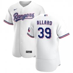 Texas Rangers 39 Kolby Allard Men Nike White Home 2020 Authentic Player MLB Jersey