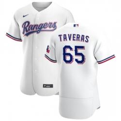 Texas Rangers 65 Leody Taveras Men Nike White Home 2020 Authentic Player MLB Jersey