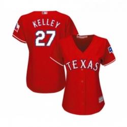 Womens Texas Rangers 27 Shawn Kelley Replica Red Alternate Cool Base Baseball Jersey