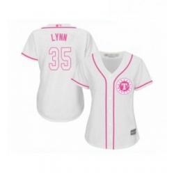Womens Texas Rangers 35 Lance Lynn Replica White Fashion Cool Base Baseball Jersey