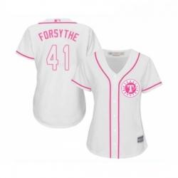 Womens Texas Rangers 41 Logan Forsythe Replica White Fashion Cool Base Baseball Jersey