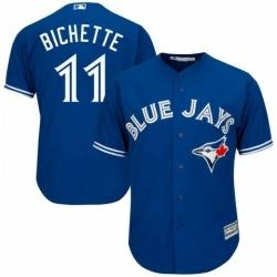 Blue Jays 11 Bo Bichette Blue Cool Base Jersey
