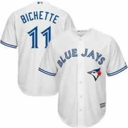 Blue Jays 11 Bo Bichette White Cool Base Jersey