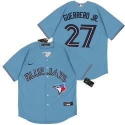Blue Jays 27 Vladimir Guerrero Jr  Light Blue 2020 Nike Cool Base Jersey