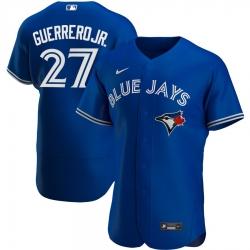 Men Toronto Blue Jays 27 Vladimir Guerrero Jr  Men Nike Royal Alternate 2020 Flex Base Player MLB Jersey